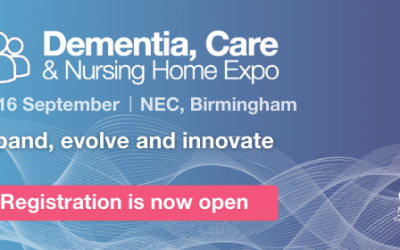 Date for your diary! We're exhibiting at The Dementia, Care & Nursing Home Expo on the 15/16th September